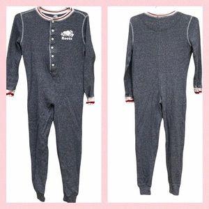 Roots Kids Waffle Knit Onesie Sleep Pjs Pajamas